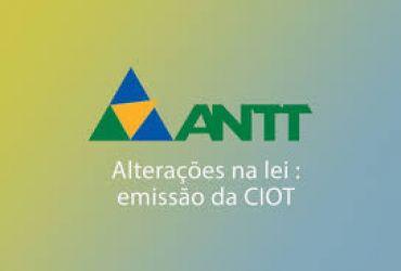 ANTT prorroga por 60 dias a obrigatoriedade de emissão de CIOT por parte do emb...